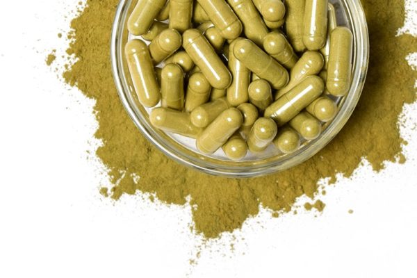 300 Kratom Capsules green capsule holds approx .5 gram(s) of raw powder. -Increased Vitality-Mood Enhancement-Relaxing and Calming Effects.